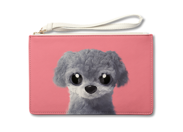 Medium Pouch_SugarCat CandyDoggie_Nanee the Poodle
