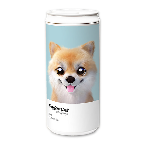 ECO Can 450ml_SugarCat CandyDoggie_Tan the Pomeranian