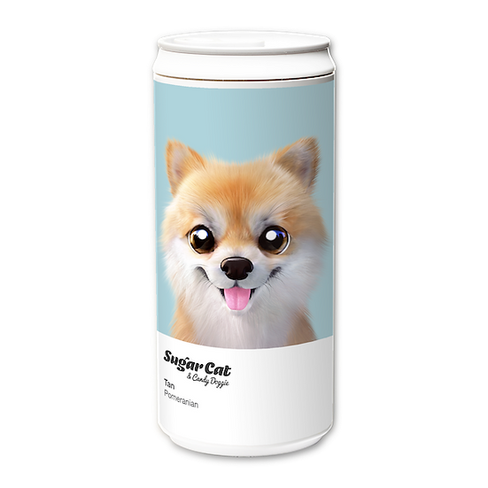 ECO Can 330ml_SugarCat CandyDoggie_Tan the Pomeranian
