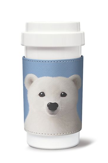 Cafe plus 400ml w/ PU sleeve_SugarCat CandyDoggie_Polar the Polar Bear