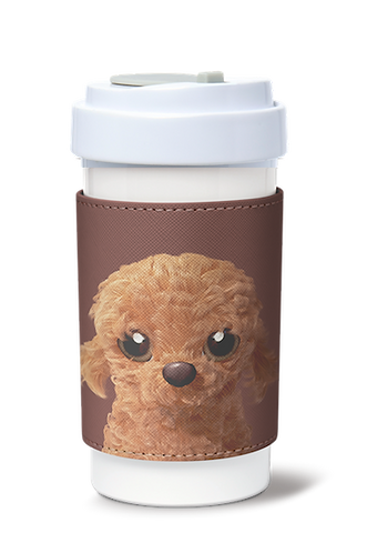 Cafe Plus 400ml_PU Mug Sleeve_Choco