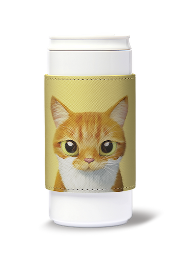 ECO Can Plus 330ml w/ sleeve_SugarCat CandyDoggie_Cheese the cat