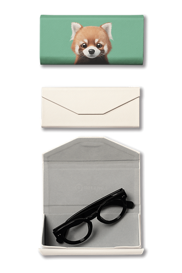 Foldable spectacle case_SugarCat CandyDoggie_Radi the Lesser Panda