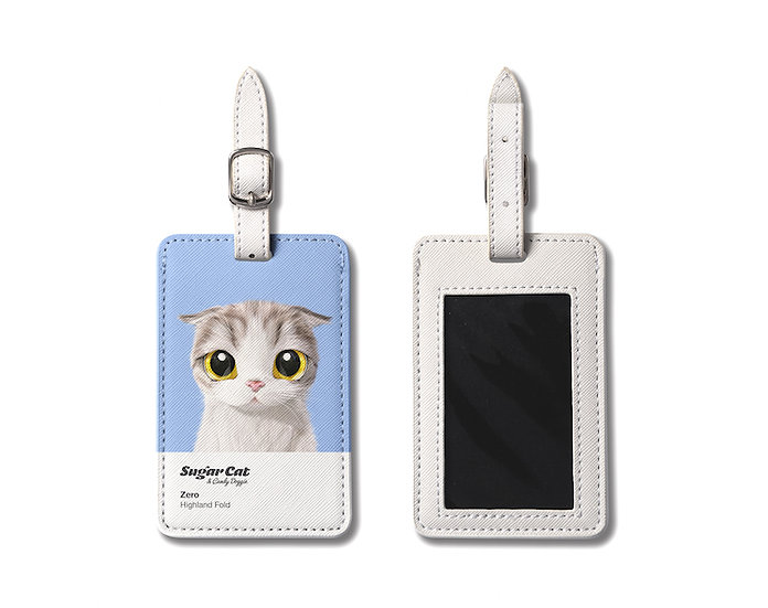 Luggage Tag_SugarCat CandyDoggie_Zero the Highland Fold