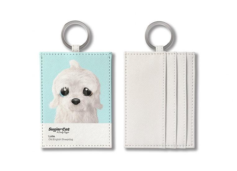 O-ring card holder_SugarCat CandyDoggie_Latte the Old English Sheepdog