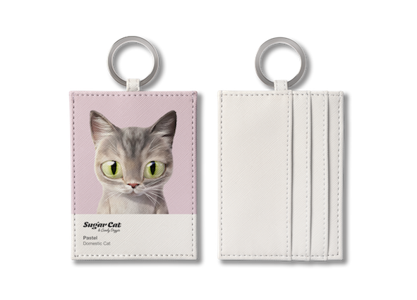 O-ring card holder_SugarCat CandyDoggie_Pastel the cat