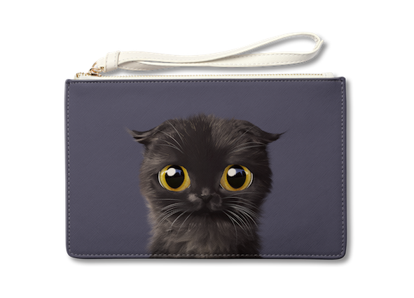 Medium Pouch_SugarCat CandyDoggie_Gimo the Highland Fold cat