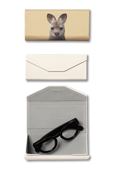 Foldable spectacle case_SugarCat CandyDoggie_Wawa the Wallaby