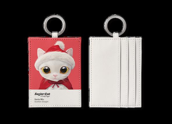 O-ring card holder_SugarCat CandyDoggie_Santa Miu