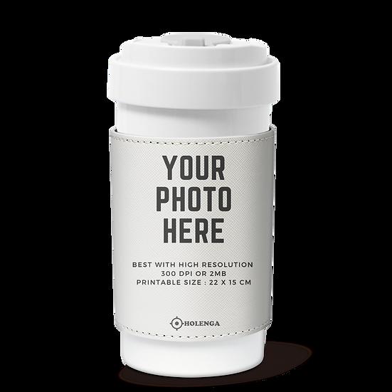Cafe plus 400ml w/ PU sleeve_Personalization