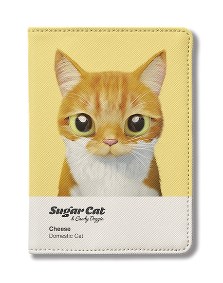 Passport Holder_SugarCat CandyDoggie_Cheese the cat