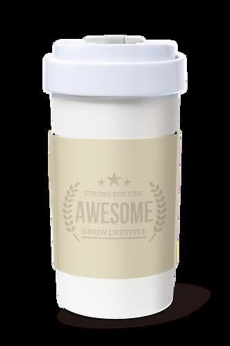 Cafe Plus 400ml_Reversible Mug Sleeve_Beige