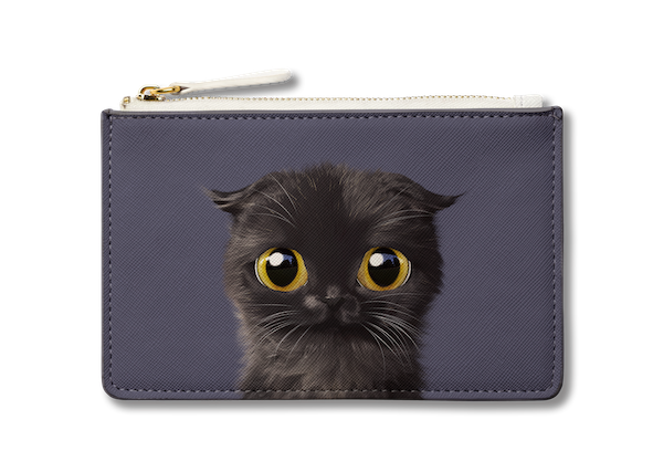 Small Pouch_SugarCat CandyDoggie_Gimo the Highland Fold cat