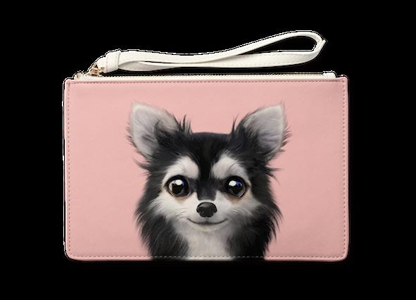 Medium Pouch_SugarCat CandyDoggie_Cola the Chihuahua