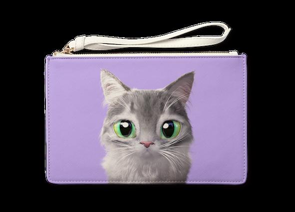 Medium Pouch_SugarCat CandyDoggie_Emma the Norwegian Forest cat