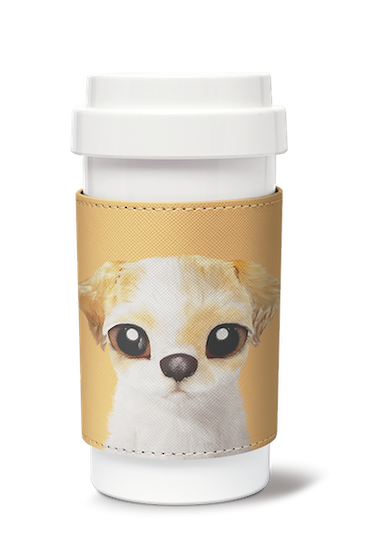 Cafe plus 400ml w/ PU sleeve_SugarCat CandyDoggie_Porry the Shih Tzu