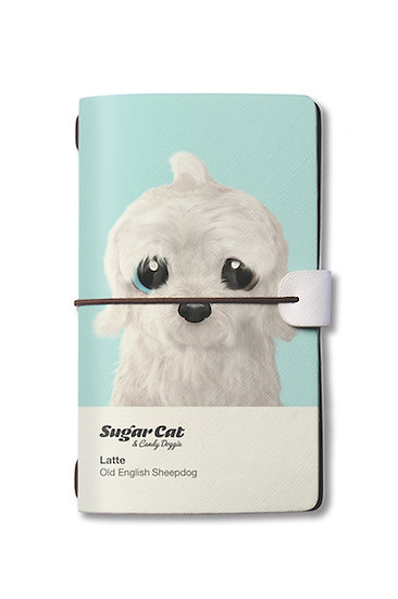 Travelogue notebook_SugarCat CandyDoggie_Latte the Old English Sheepdog