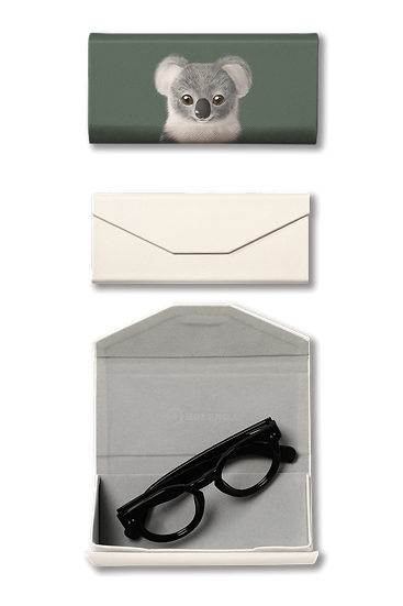 Foldable spectacle case_SugarCat CandyDoggie_Coco the Koala