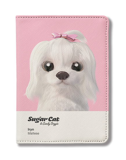 Passport Holder_SugarCat CandyDoggie_Iryn the Maltese