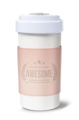 Cafe Plus 400ml_Reversible Mug Sleeve_Pink
