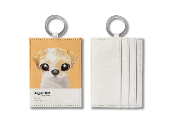 O-ring card holder_SugarCat CandyDoggie_Porry the Shih Tzu