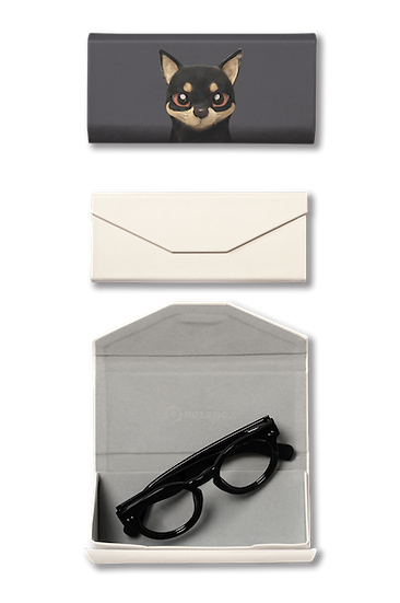 Foldable spectacle case_SugarCat CandyDoggie_Bandal the Black Tan