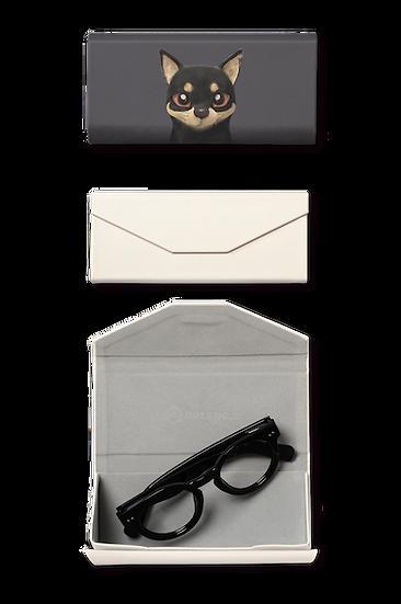 Foldable spectacle case_SugarCat CandyDoggie_Bandal the Black Tan