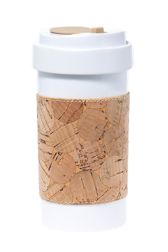 NEW LID* Cafe Plus 400ml with Cork mug sleeve_Circle
