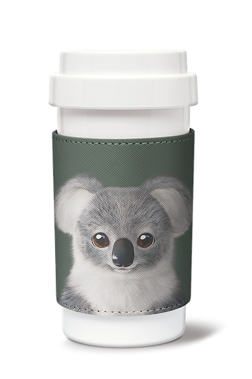 Cafe plus 400ml w/ PU sleeve_SugarCat CandyDoggie_Coco the Koala