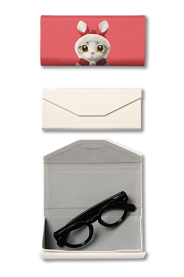 Foldable spectacle case_SugarCat CandyDoggie_Santa Zero