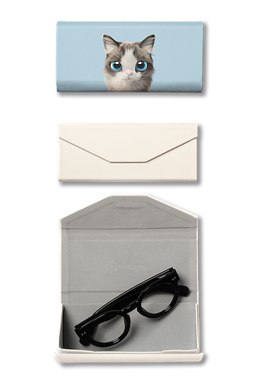 Foldable spectacle case_SugarCat CandyDoggie_Vani the Ragdoll cat