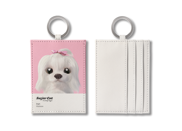 O-ring card holder_SugarCat CandyDoggie_Iryn the Maltese
