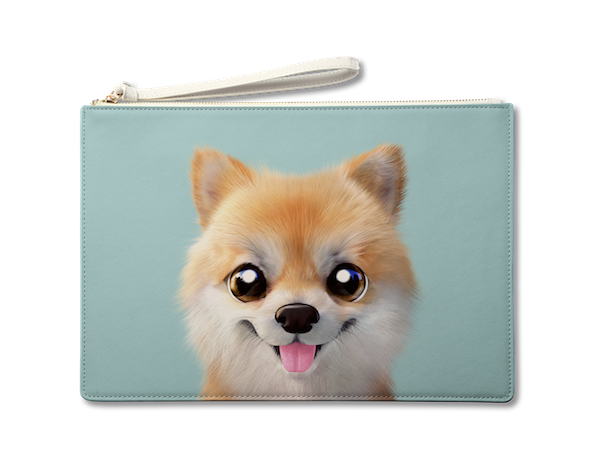 Large Pouch_SugarCat CandyDoggie_Tan the Pomeranian