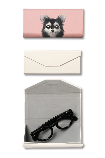 Foldable spectacle case_SugarCat CandyDoggie_Cola the Chihuahua