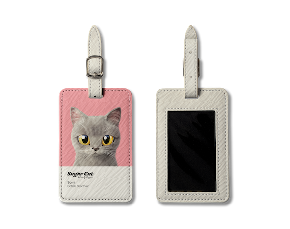 Luggage Tag_SugarCat CandyDoggie_Somi the British shorthair cat
