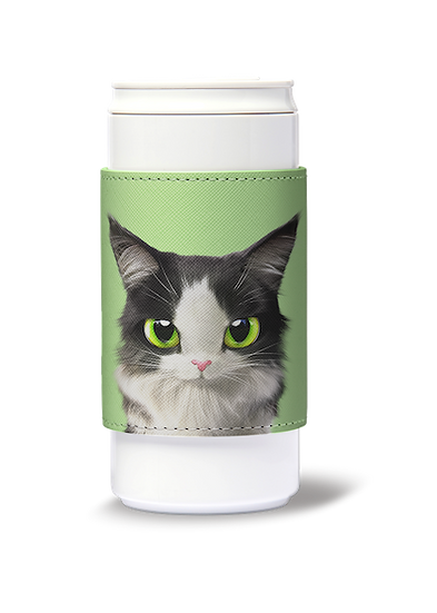 ECO Can Plus 330ml w/ sleeve_SugarCat CandyDoggie_Terry the Norwegian Forest cat