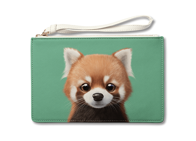 Medium Pouch_SugarCat CandyDoggie_Radi the Lesser Panda