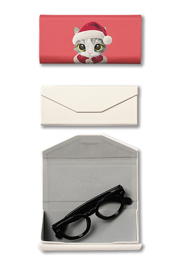 Foldable spectacle case_SugarCat CandyDoggie_Santa Gurumi
