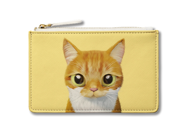Small Pouch_SugarCat CandyDoggie_Cheese the cat