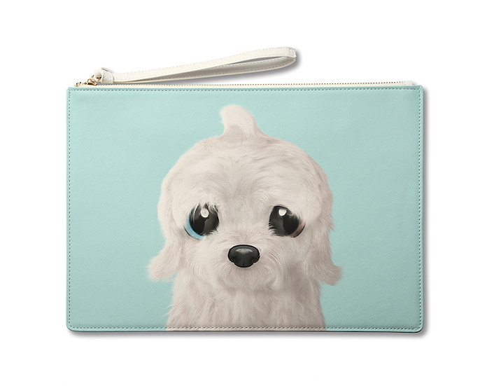 Large Pouch_SugarCat CandyDoggie_Latte the Old English Sheepdog