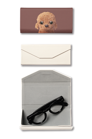 Foldable spectacle case_SugarCat CandyDoggie_Choco the Poodle