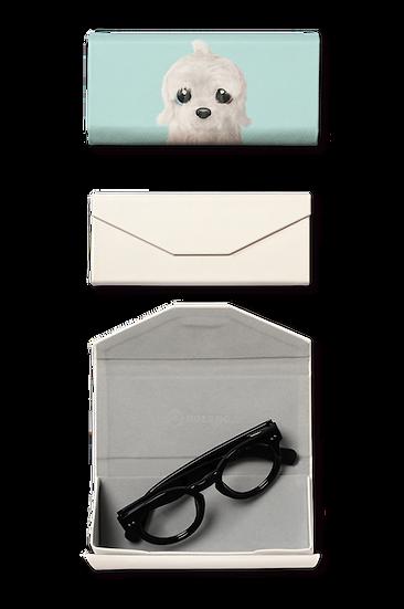 Foldable spectacle case_SugarCat CandyDoggie_Latte the Old English Sheepdog