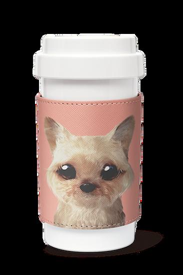 Cafe plus 400ml w/ PU sleeve_SugarCat CandyDoggie_Omji the Yorkshire Terrier