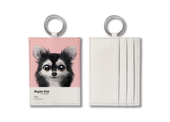 O-ring card holder_SugarCat CandyDoggie_Cola the Chihuahua