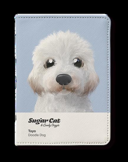 Passport Holder_SugarCat CandyDoggie_Tayo the Doodle dog