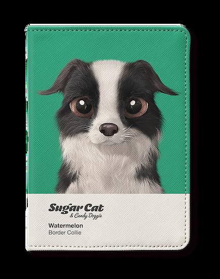 Passport Holder_SugarCat CandyDoggie_Watermelon the Border Collie