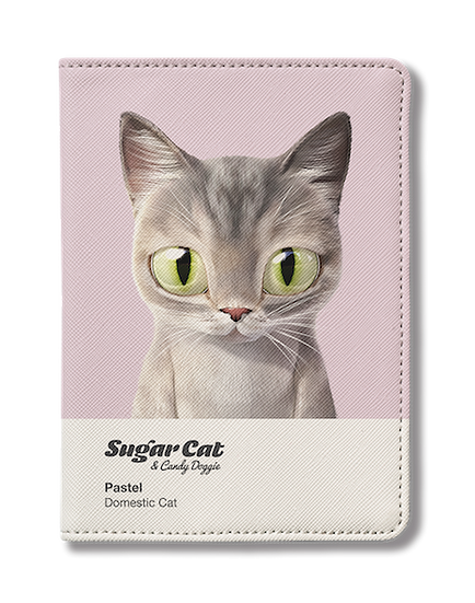 Passport Holder_SugarCat CandyDoggie_Pastel the cat