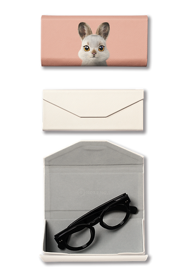 Foldable spectacle case_SugarCat CandyDoggie_Bunny The Mountain Hare