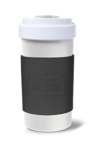 Cafe Plus 400ml_Reversible Mug Sleeve_Black