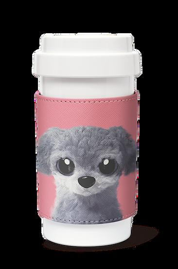 Cafe plus 400ml w/ PU sleeve_SugarCat CandyDoggie_Nanee the Poodle